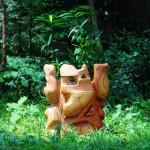 木彫刻・椅子