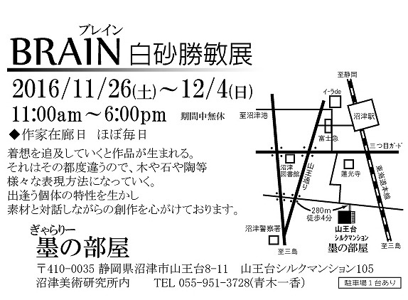 brain shirasuna katsutoshi solo exhibition