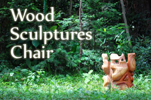 wood sculptures chair