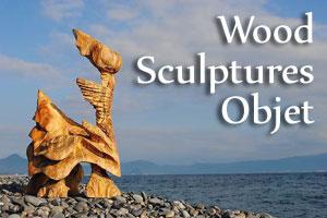 wood sculptures objet