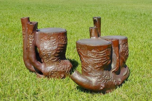 陶器の太鼓