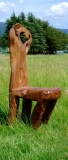 一木彫り四足椅子