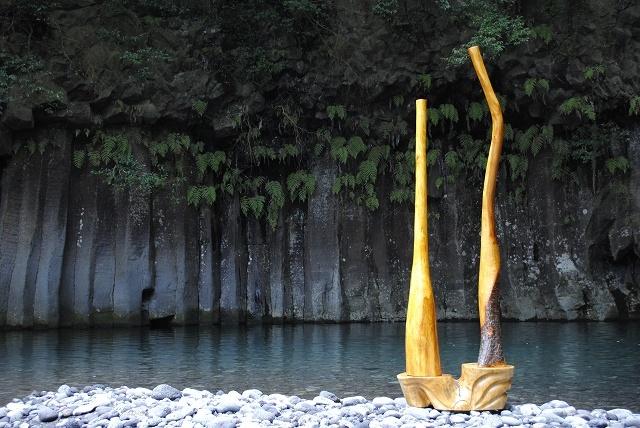 TUBE(管) 桜 高野槇 松(台)白砂勝敏 2015~2016年制作